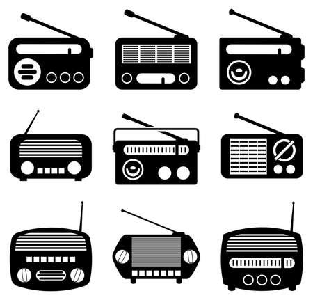 vector set van radio-iconen