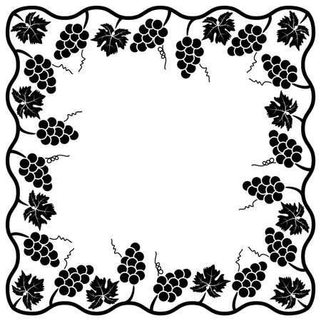 vitis: vector background decoration of grape vine