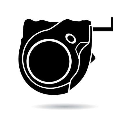 cintas metricas: vector icono de cinta de la medida