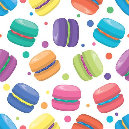 sugar cookies: vector macaron seamless pattern Illustration