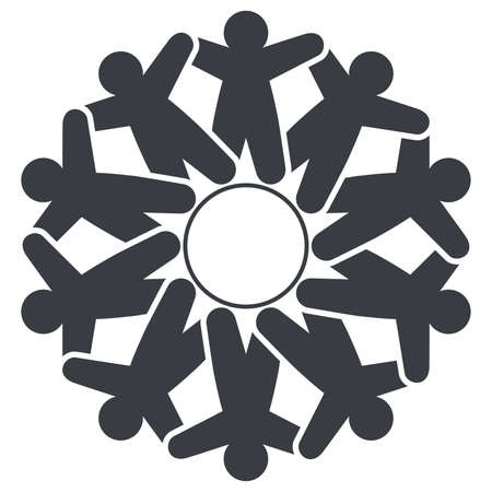 children circle: vector people friendship icon