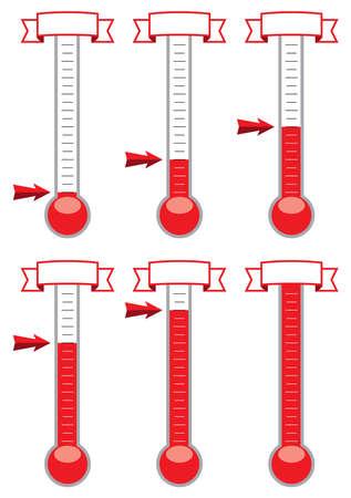 metas: Los termómetros meta de vectores en diferentes niveles