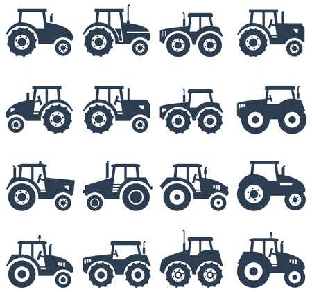 Vektor-Icons von einem Traktor Standard-Bild - 49779479
