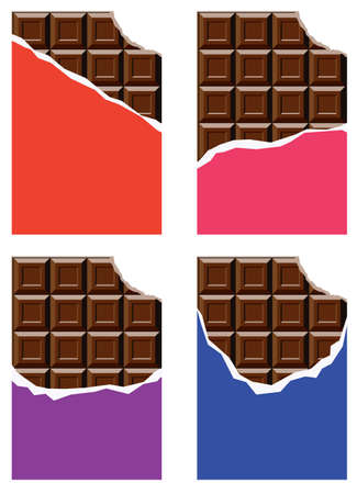 vector collection of chocolate bars Иллюстрация