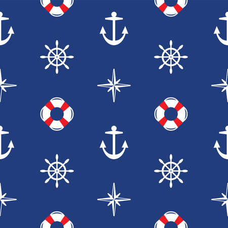 sailing boats: vector seamless sea pattern Illustration
