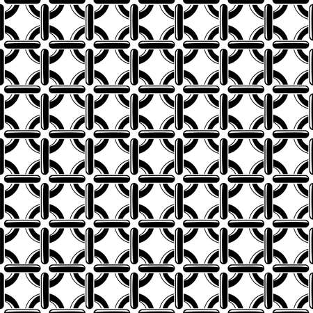 bondage: vector black and white seamless chain pattern