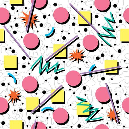 vector naadloze jaren '80 of '90 chaotische achtergrond patroon