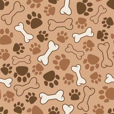 vector seamless dog pattern Vetores