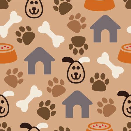vector naadloze hondpatroon Vector Illustratie
