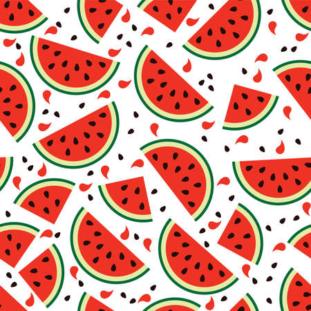 vector watermelon seamless background pattern Imagens - 51522361