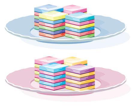 gelatina: colorido postre de gelatina en un plato