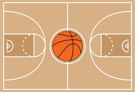 court symbol: illustration of basketball court symbol