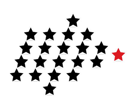leadership concept: leadership concept with stars Illustration