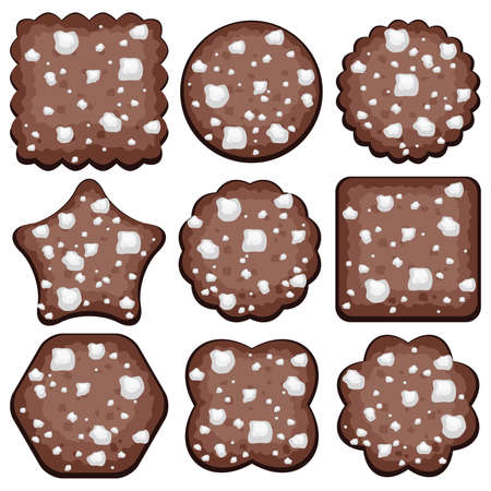 chocolate chip: set of chocolate chip cookies