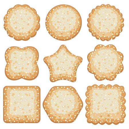 shortbread: set of sugar cookies