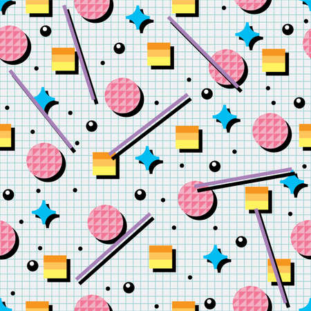 '80s: seamless 80s or 90s background pattern