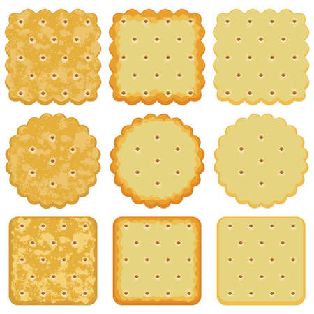 biscuits: set of cracker chips Illustration
