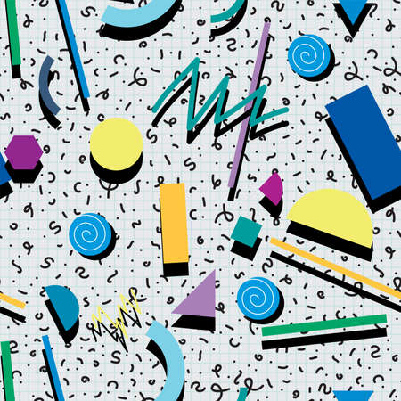 90s: seamless 80s or 90s background pattern