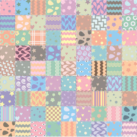 patchwork: vector patchwork handicraft fabric background