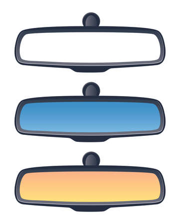 vector set of car rear view mirrors 向量圖像