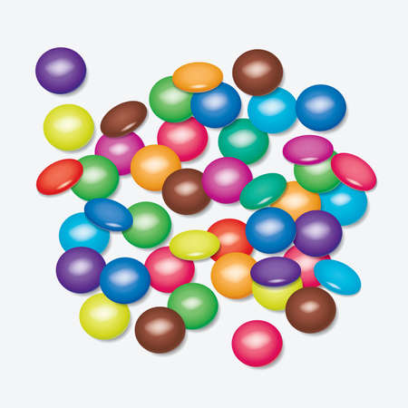 small group of object: vector background of colorful candies Illustration