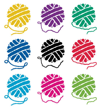 Vektor-Satz von Garnkugel Symbole Vektorgrafik