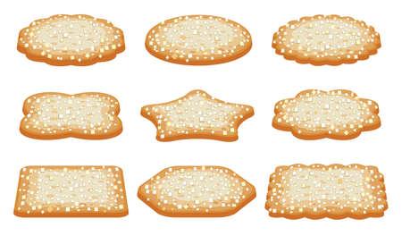shortbread: vector collection of sugar shortbread cookies