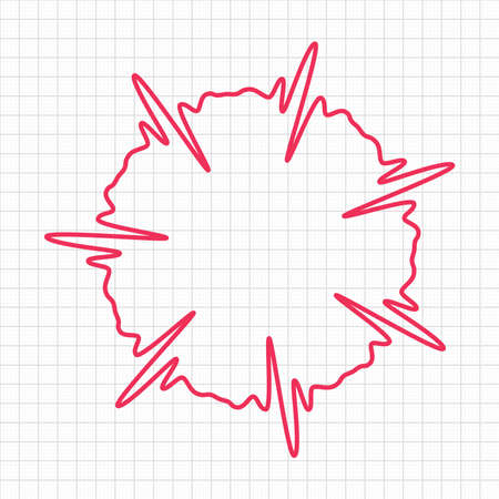 unrequited: vector quote template with cardiogram line