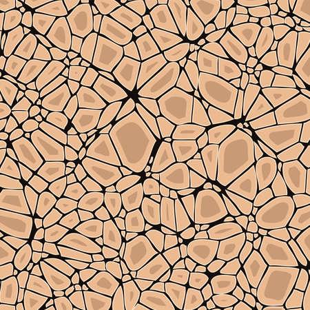 soil: vector dry cracked soil, desert background Illustration