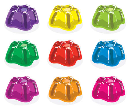 jelly: vector colorful gelatin jelly assortment
