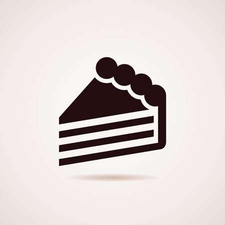 Symbol des Kuchens Scheibe