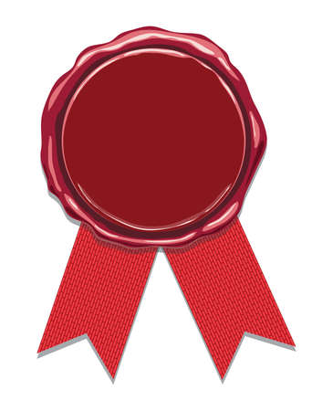 sceau de cire avec des rubans rouges