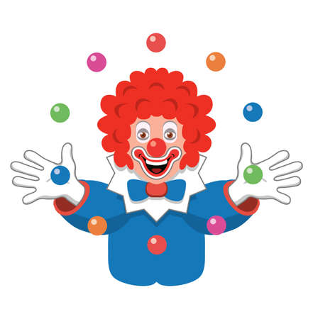 red hair: icon of juggling clown