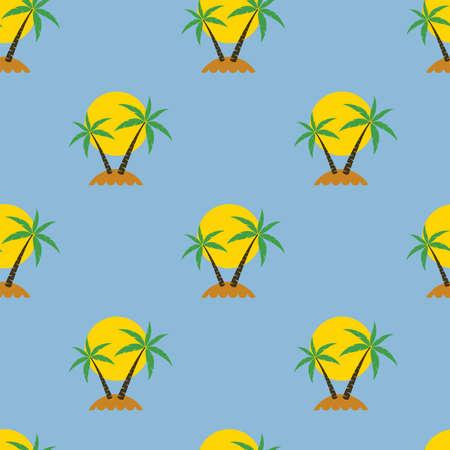 island paradise: seamless palm tree travel background