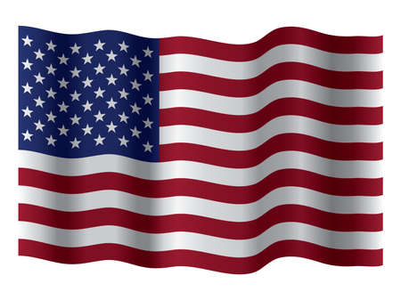 waving flag of united states of america Illustration