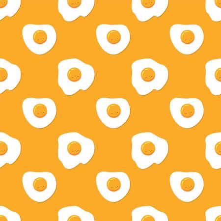 yolk: seamless breakfast pattern with fried eggs