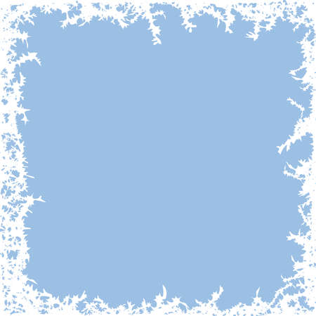 winter frost background with copy space