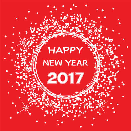 celebration card: vector background for happy new year 2017 celebration card Illustration