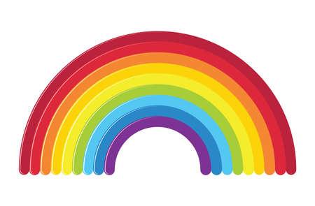 vector icon of rainbow isolated on white background Illustration