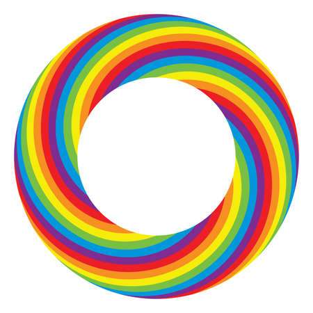 rainbow colours: vector background of round wheel circle with bright rainbow colors Illustration