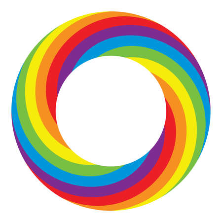 rainbow colours: vector colorful round wheel circle with bright rainbow colors isolated on white background