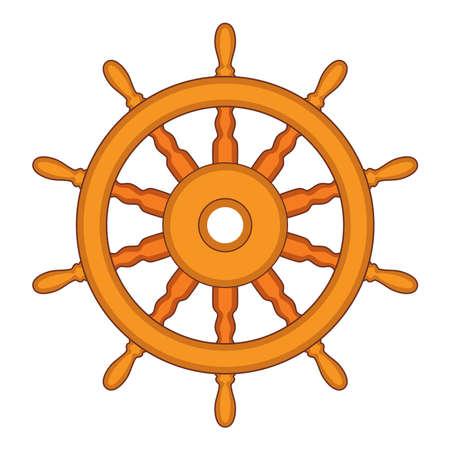vector stuur van een schip, boot en jacht geïsoleerd op een witte achtergrond. roer richting concept. zeevaart of reizen symbool. houten stuurwiel Stock Illustratie