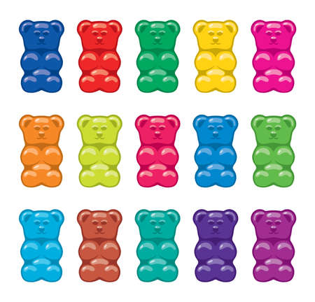 vector gummy bear candies isolated on white background 免版税图像 - 86414218
