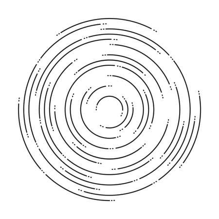 Circular lines graphic pattern.