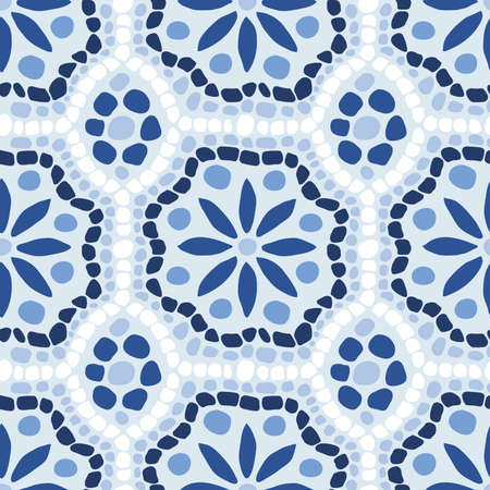 vector seamless Moroccan mosaic pattern. mosaic tile background texture 矢量图像