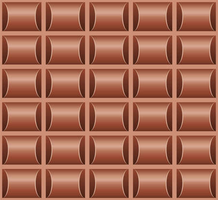 vector seamless chocolate bar background pattern. milk chocolate blocks. brown seamless texture for food backgrounds
