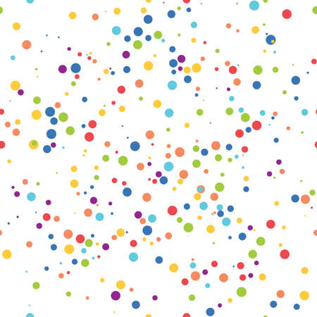 vector seamless background pattern with dots. seamless background texture. colorful asymmetric design Ilustração