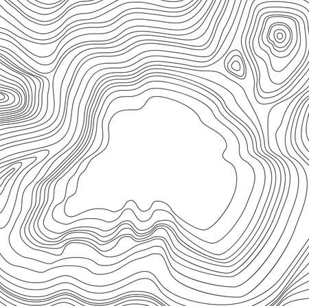vector abstract map pattern with wavy lines and copy space for text. black and white topographic line contours. simple map design