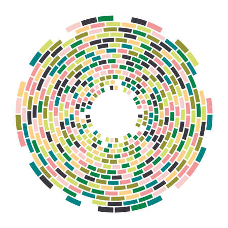Abstract colorful mosaic round pattern.