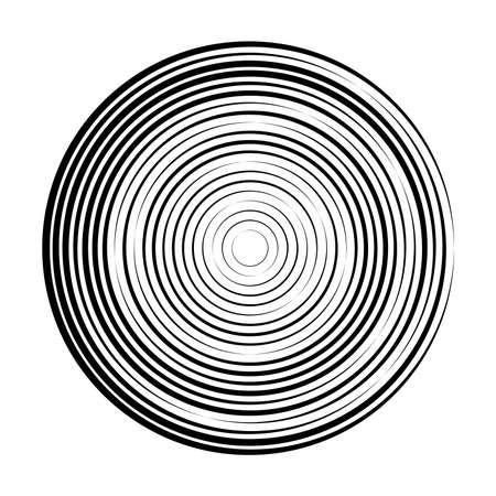 Abstract radial  of concentric ripple circles. Illustration